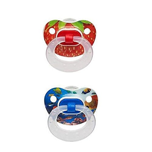 NUK Silicone Photo Real Pacifier 2 Pack Size 2 - Color Theme May Vary - 1