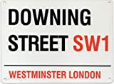 Downing Street SW1 London Street Sign - Steel, 20 x 15cms