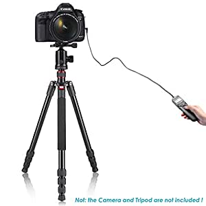 Neewer® LCD Timer Shutter Release Remote Control Cord RS-60E3 for Canon Pentax Hasselblad Contax Samsung, fits Canon EOS 60D 300D 350D 400D 450D 1000D 500D 550D 650D 700D 100D / Rebel XT Xti Xsi XS T1i T2i T4i T5i SL1, Rebel 2000 Rebel G Rebel G II, ELAN 7 ELAN 7E ELAN 7N ELAN II ELAN IIE IX LITE, PowerShot G10/G11, Pentax K10D K110D K100D K20D K200D KM ist D DS DS2 DL DL2 K10 MZ-6 MZ-L ZX-L, Hasselblad H H1 H2 H2D H1D, Contax 645 Nl Nx N N Digital LA-50, Samsung GX-20 GX-10 GX-1L GX-1