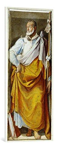 """Quadro su tela: Federico Zuccari """"Der Apostel Jakobus d.Ä."""" - stampa artistica di alta qualità, tela con intelaiatura in legno, quadro pronto per essere appeso, 42x100 cm"""