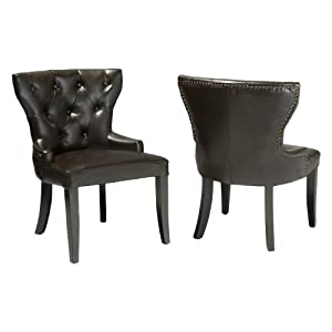 Best Selling Kingdom Leather Accent Chair, Set of 2