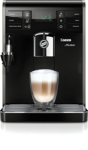 Saeco HD8768/21 Moltio Kaffeevollautomat, automatischer Milchaufschäumer, schwarz thumbnail