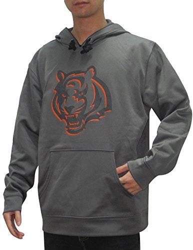 Nfl Cincinnati Bengals Mens Athletic Dri-Fit Pullover Hoodie / Sweatshirt 2Xl Grey