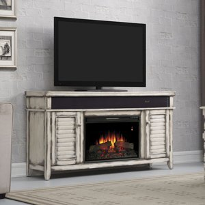 Classicflame Simmons Electric Fireplace Entertainment Center In Country White - 26Mms8529-T478