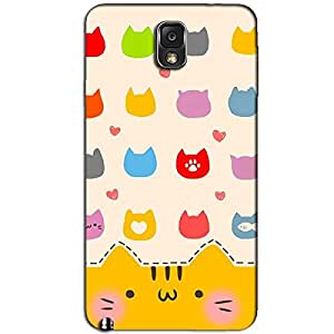 SAMSUNG GALAXY NOTE 3 CUTE KITTY BACK COVER