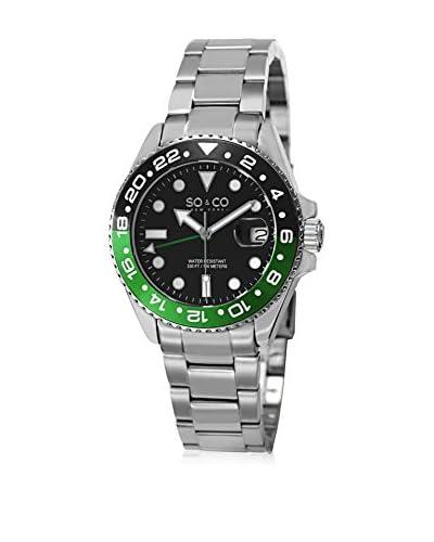 SO & CO New York Uhr mit Miyota Uhrwerk silberfarben 40 mm