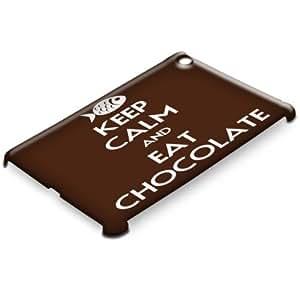 Keep Calm 10038, Keep Calm And Eat Chocolate, 3D Matt Case Hartschale Hülle Tasche Handyschutzhülle Cover mit Bunte Design für Apple iPad Mini.