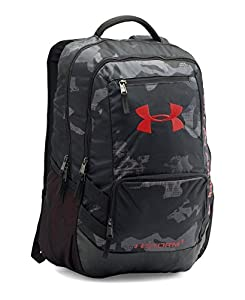 Under Armour Adult Hustle II Backpack, Black/Black, One Size