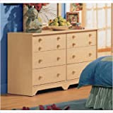 Shaker Style Natural Maple Finish Double dresser