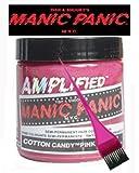 Manic Panic Amplified Hair Dye - Vegan Hair Dye - Cotton Candy Pink & Pink Tint Brush