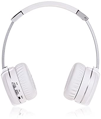 NUVU Soundforms HD Wireless Bluetooth On-Ear Transforming Headphones & Stereo System - White