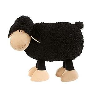 Nici 28822 - Almohada con forma de oveja de peluche (43, 33 cm), color negro [importado de Alemania]
