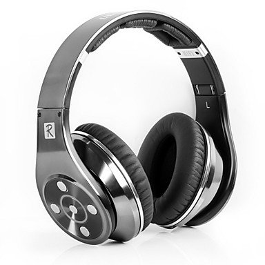 Headphone - Bluedio R+ Legend Version Over-Ear Wireless Bluetooth 4.0 Headphone For Mobile Phones And Personal Computers ( Color : Gray )
