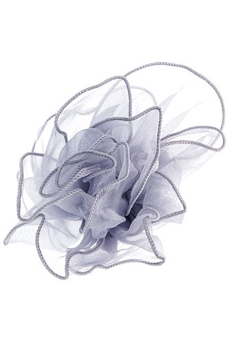 Karmas Canvas Sheer Flower Head Pin (Gray)