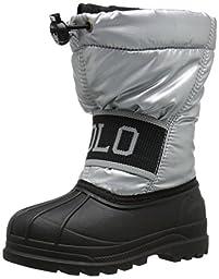 Polo Ralph Lauren Kids Jakson Winter Fashion Boot (Toddler/Little Kid/Big Kid), Silver/Black, 4 M US Toddler