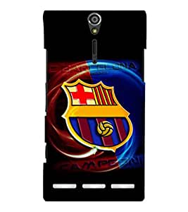printtech Football Champion Team Back Case Cover for Sony Xperia S Lt26i