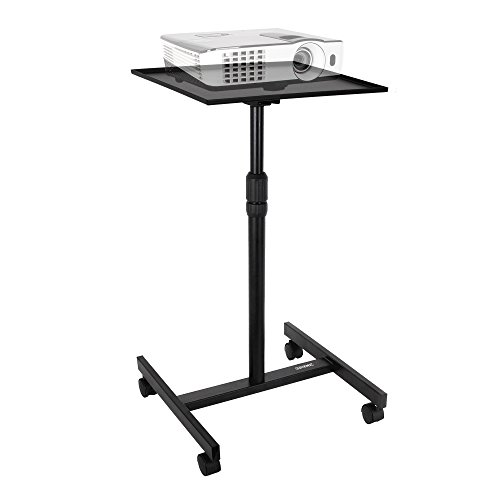 duronic-wps20-adjustable-height-floor-projector-laptop-stand-with-wheels