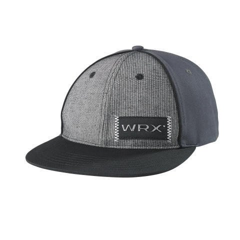 subaru-wrx-flat-bill-cap-hat-impreza-grey-gray-black-genuine-sti-rally-racing