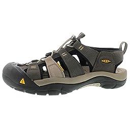 KEEN Men\'s Newport H2 Sandal, Black Olive/Brindle, 10.5 M US