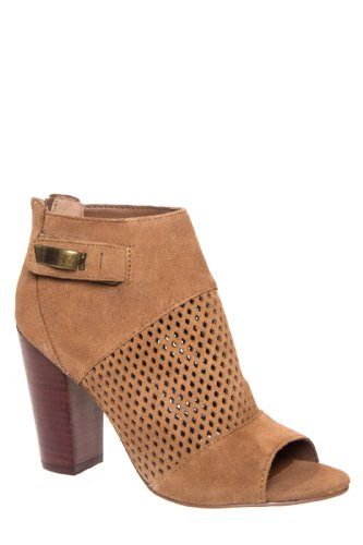DV by Dolce Vita Marana High Heel Open Toe Perforated Bootie