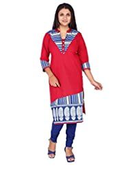 Desi Aura High Quality Straight Fit Long Fancy Cotton Printed Kurtis For Fashionable Women(Pack Of 1) - B017GUOHPK