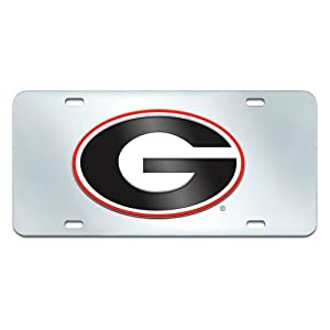 Buy FANMATS NCAA University of Georgia Bulldogs Plastic License Plate (Inlaid) by Fanmats