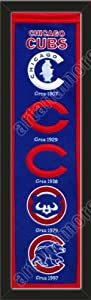 Heritage Banner Of Chicago Cubs-Framed Awesome & Beautiful-Must For A... by Art and More, Davenport, IA