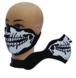 "Masque Protection Demi Cagoule Neoprene ""Ghost Tete de mort - Skull"" - Taille unique réglable - Airsoft - Paintball - Outdoor - Ski - Snow - Surf - Moto - Biker - Quad"