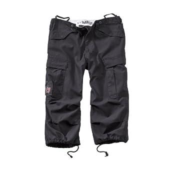 Surplus Homme shorts ENGINEER VINTAGE 3/4 , Size S, Color black
