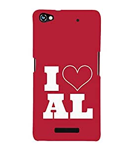 EPICCASE I love All Mobile Back Case Cover For Micromax Canvas Hue 2 A316 (Designer Case)
