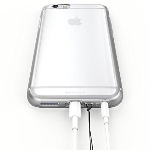 """iPhone6s ケース / iPhone6 ケース 両対応 """"KINTA"""" 日本製 エラストマー クリアケース 耐衝撃 ソフトケース ストラップホール クリア KNIPH600-CLR"""