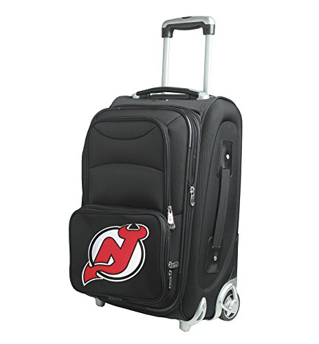denco-nhl-new-jersey-devils-in-line-skate-wheel-carry-on-luggage-21-inch-black