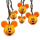 Mickey Mouse Orange Halloween Set of 10 Pumpkin Lights String - Disney Parks