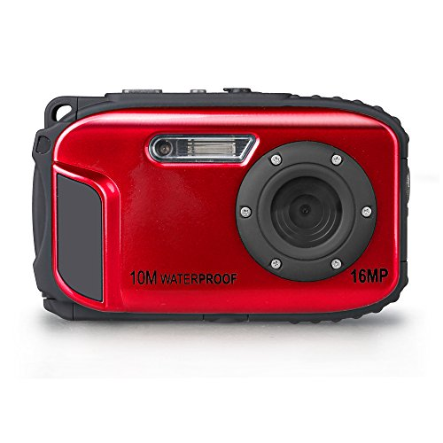 KEEDOX 16MP Waterproof Digital Diving Camera with 8x Digital Zoom 10m waterproof Supports Micro SD (Red) Black Friday & Cyber Monday 2014