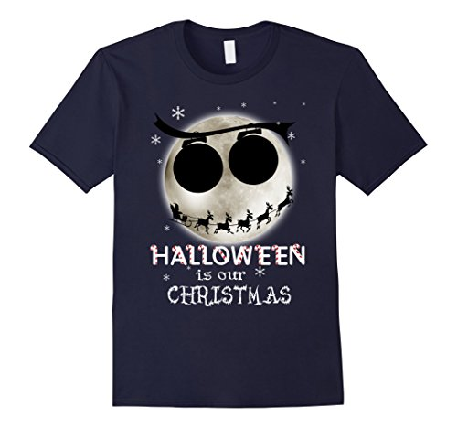 [Men's Halloween Is Our Christmas T-shirt Large Navy] (Boogie Man Nightmare Before Christmas Costumes)