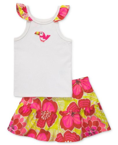 Carters Baby Girls 2-Piece Tank Top & Skort Set, Pink & Red Floral, 3M