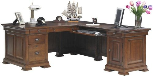 Classic Oak L Shaped Desk