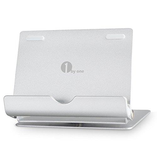 1byone-Multi-Winkel-Universal-Stnder-fr-Smartphones-Tablets-und-E-Reader-aus-bestndigem-Aluminium-Individuell-einstellbar-und-mobil-Halterung-kompatibel-mit-allen-gngigen-Smartphones-und-Tabs-Farbe-Si