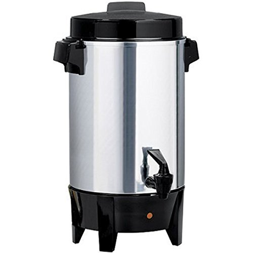 West Bend 36-Cup Coffee Urn, Polished Aluminum