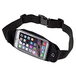 Yinuo Sport Running Waist Belt Fanny Pack Wallet Pouch Bag case for iPhone 6S Plus / HTC One A9 / One M9 / Motorola DROID Turbo 2 / Microsoft Lumia 640 950 XL (Black)