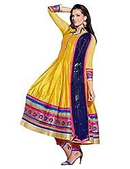 Chanderi Anarkali With Zari Embroidery & Patch Border - R0101010