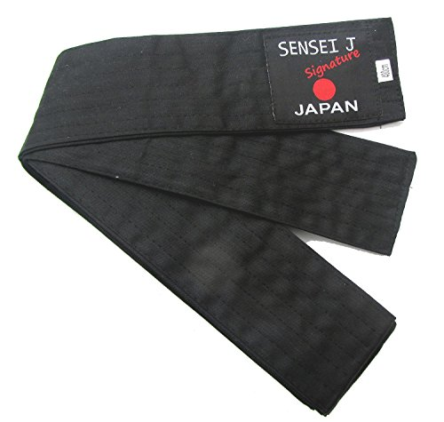 Obi Laido KENDO,AIKIDO Belt BLACK Sensei Japan - 400x8cm Soft Obi 6 Row Stitching Easy Tie