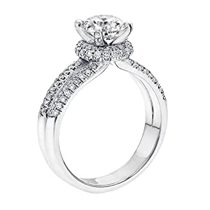 IGI Certified 14k white-gold Round Cut Diamond Engagement Ring (1.14 cttw, G Color, SI1 Clarity)