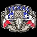 Texas Bull Cowboy Western Style Long Horn Belt Buckle