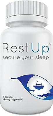 RestUp: #1 Premium Non-Habit Forming Sleep Aid - Get the Best Night's Sleep - 100% Moneyback Guarantee - Made with L-Theanine, NIAGEN, 5-HTP, Bioperine, and Melatonin - Sleep Supplement