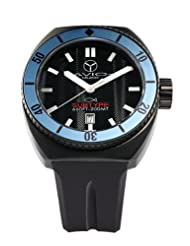 Men's SUB BK BL Subtype Black PVD Steel Blue Unidirectional Bezel Black Luminous Dial Watch