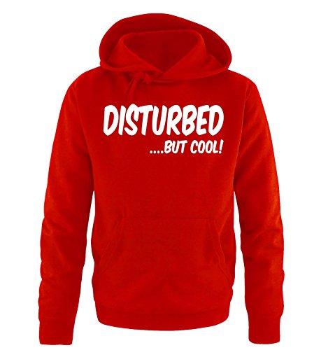 Comedy Shirts - DISTURBED BUT COOL! - Uomo Hoodie cappuccio sweater - rosso / bianco taglia XXL