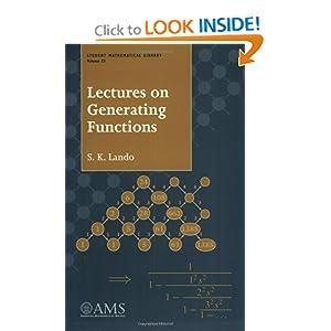 Lectures on generating functions Sergei K. Lando