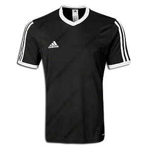 Amazon.com : adidas Tabela 14 Replica Soccer Jersey Black/White YL