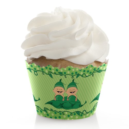 Twins Two Peas In A Pod Caucasian - Cupcake Wrappers (Set Of 12) front-734052